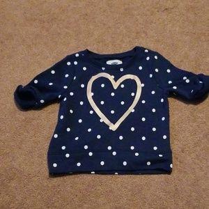Toddler Girl Beautiful Heart Top